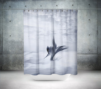 Sea of Clouds Mermaid Shower Curtain