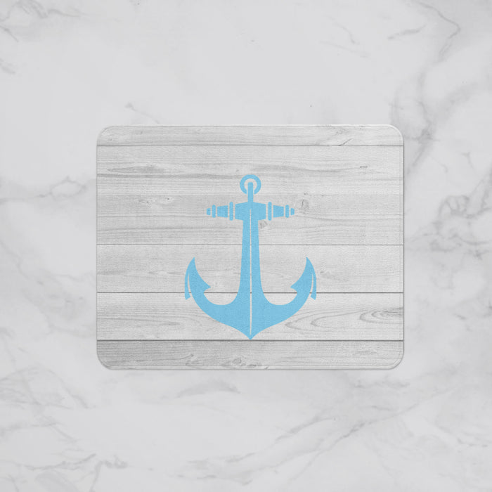 Cute Anchor Designer Bath Mat, Custom Sizes and Designs Are Available, Why Not Design Your Own