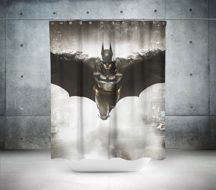 Flying Batman Shower Curtain