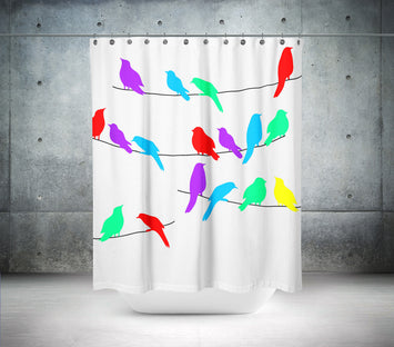 Colourful Birds Shower Curtain