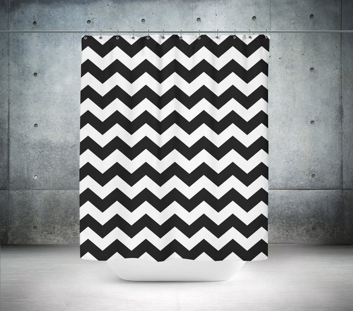 Black & White Chevron Shower Curtain
