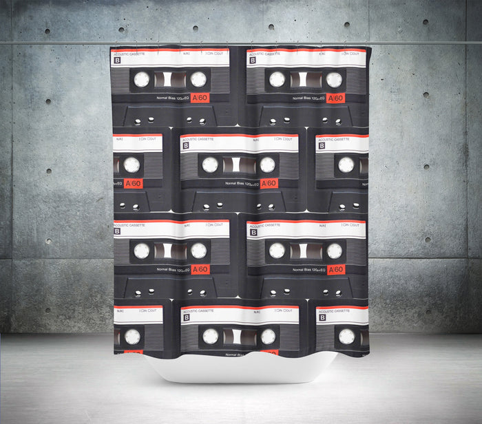 Retro Cassette Shower Curtain