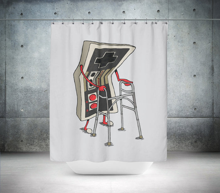 Retro Nintendo Controller Zimmer Frame Shower Curtain
