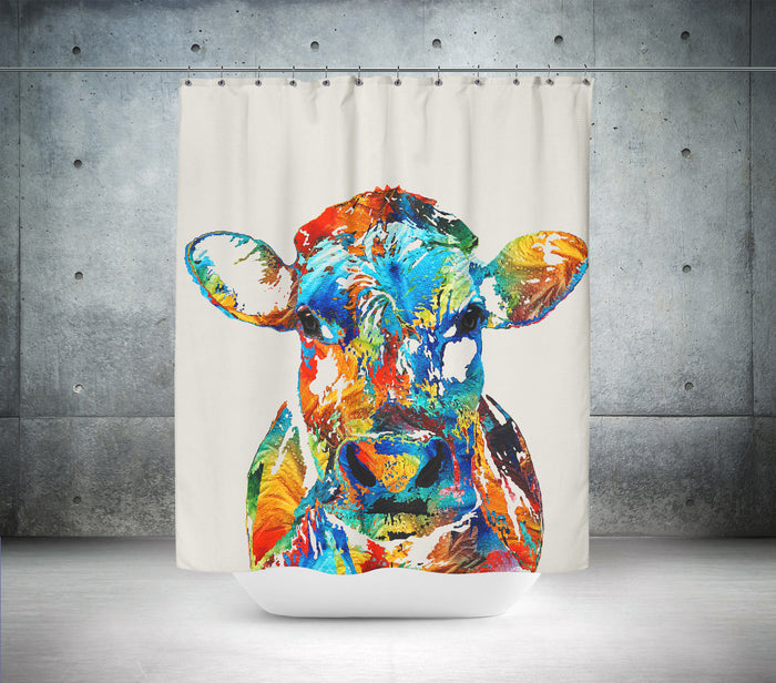 Artistic Cow Shower Curtain