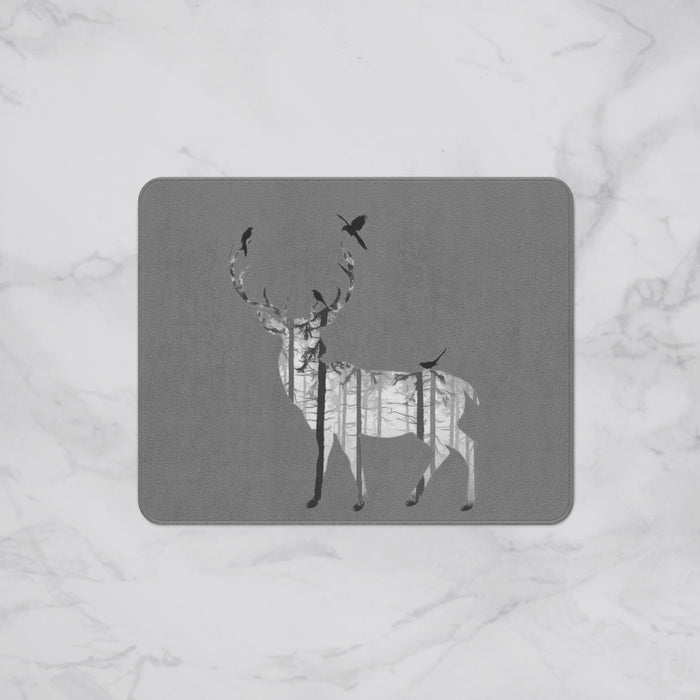 Retro Stag Animal Designer Bath Mat, Custom Sizes and Designs Are Available, Why Not Design Your Own