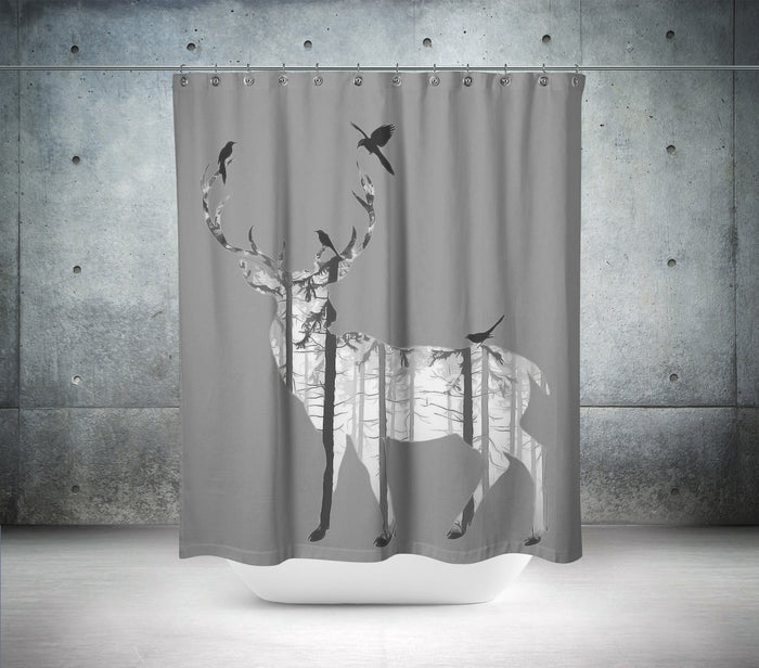 Artistic Stag Shower Curtain