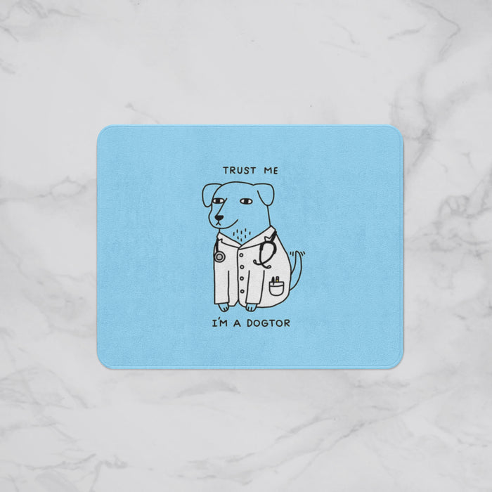 I'm the Dog-Tor Kids Designer Bath Mat, Custom Sizes and Designs Are Available, Why Not Design Your Own