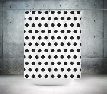 Black & White Polka Dot Shower Curtain