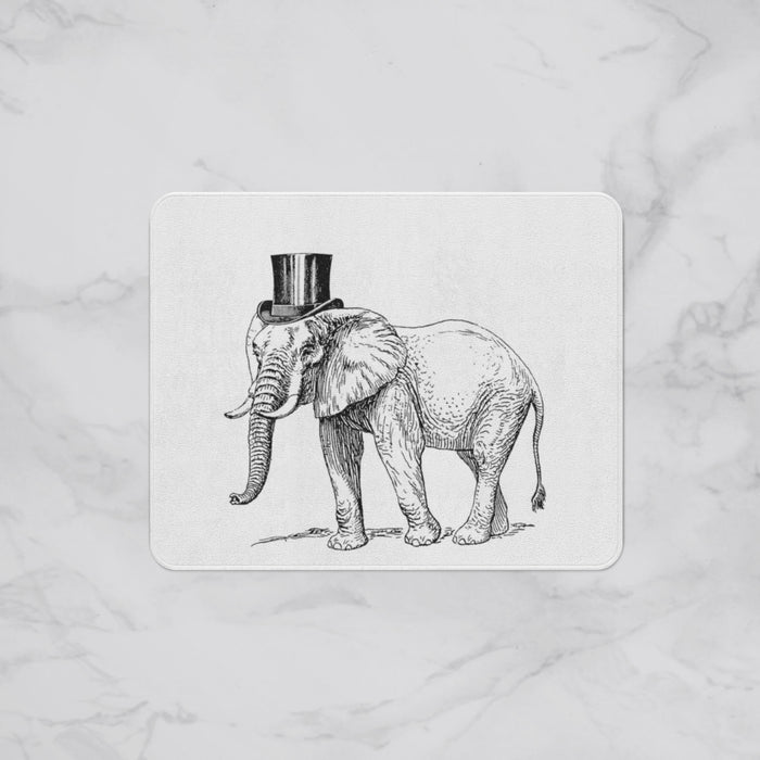 Elephant Top Hat Kids Designer Bath Mat, Custom Sizes and Designs Are Available, Why Not Design Your Own