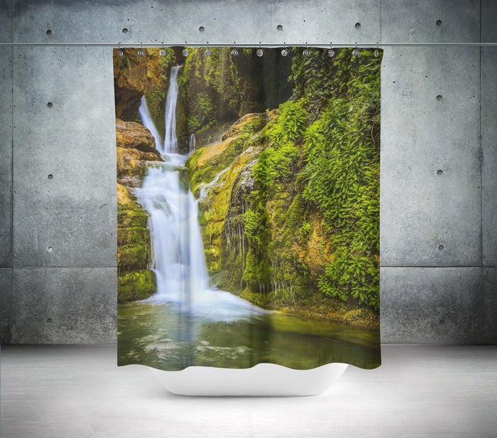 Beautiful Waterfall Scene Shower Curtain