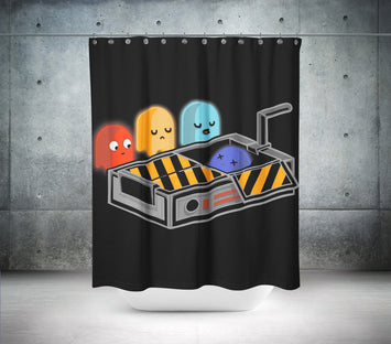 Pac Man Shower Curtain