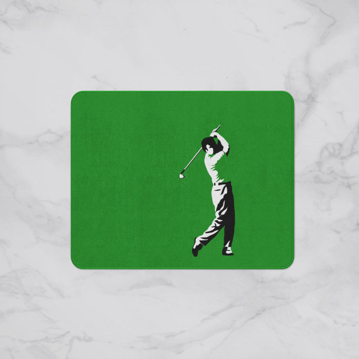Vintage Golfer Designer Bath Mat, Custom Sizes and Designs Are Available, Why Not Design Your Own