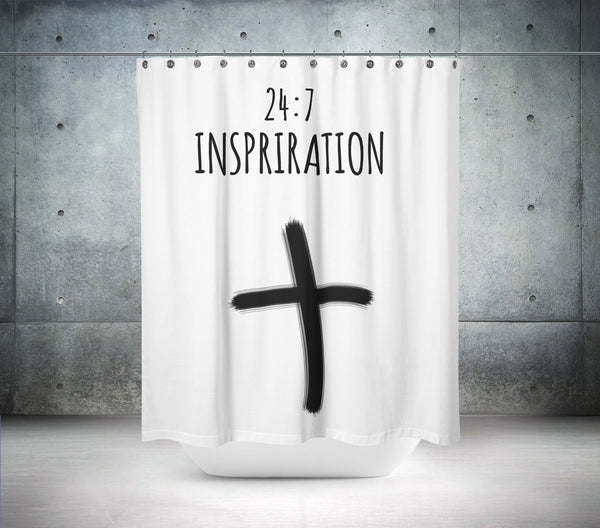 24 : 7 Inspiration Shower Curtain