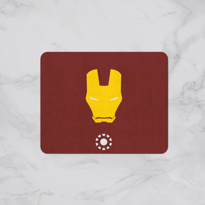 Retro Iron Man Kids Designer Bath Mat, Custom Sizes and Designs Are Available, Why Not Design Your Own