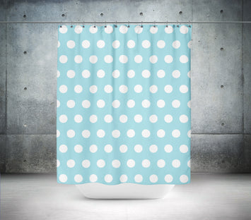 Baby Blue Polka Dot Shower Curtain