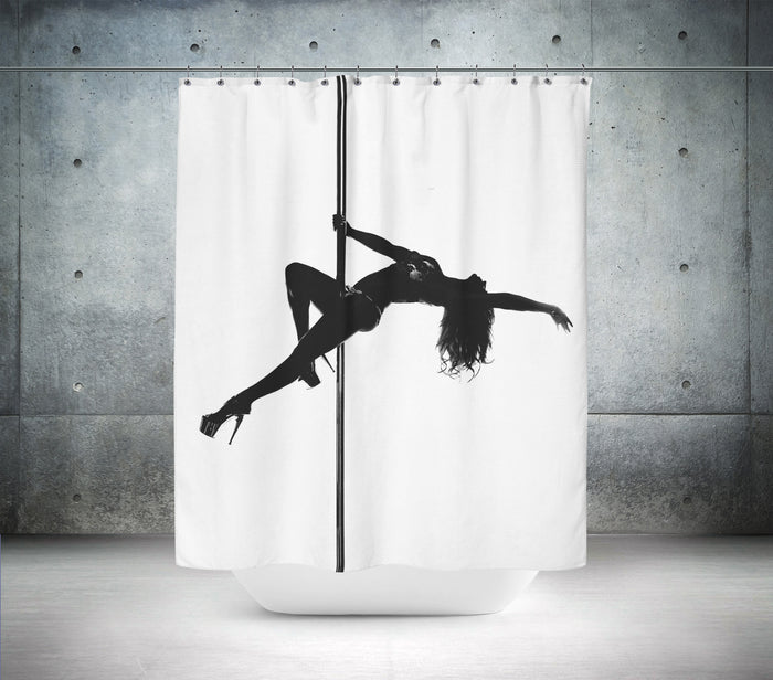 Pole Dancer Shower Curtain