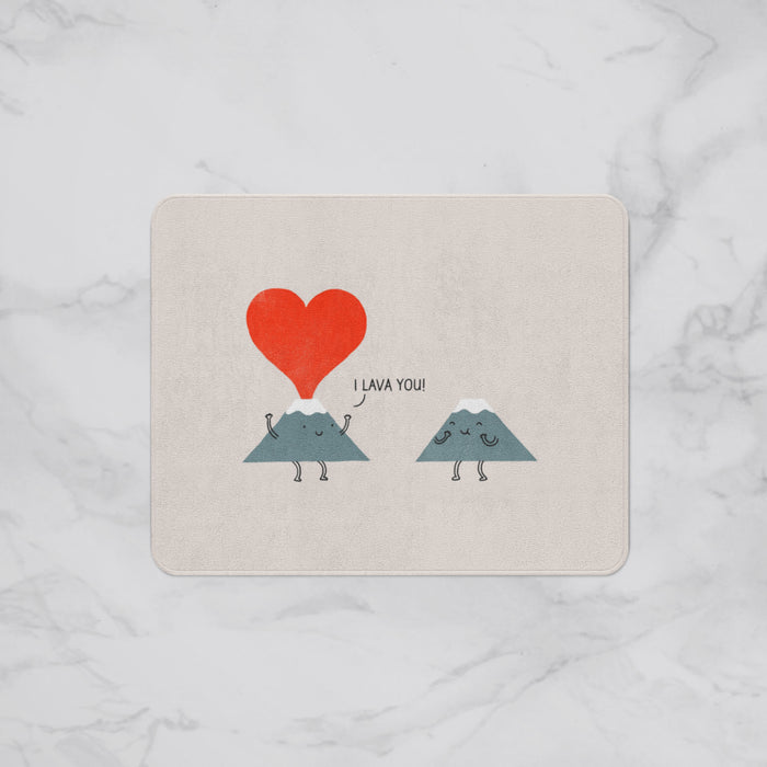I Lava You Designer Bath Mat, Custom Sizes and Designs Are Available, Why Not Design Your Own