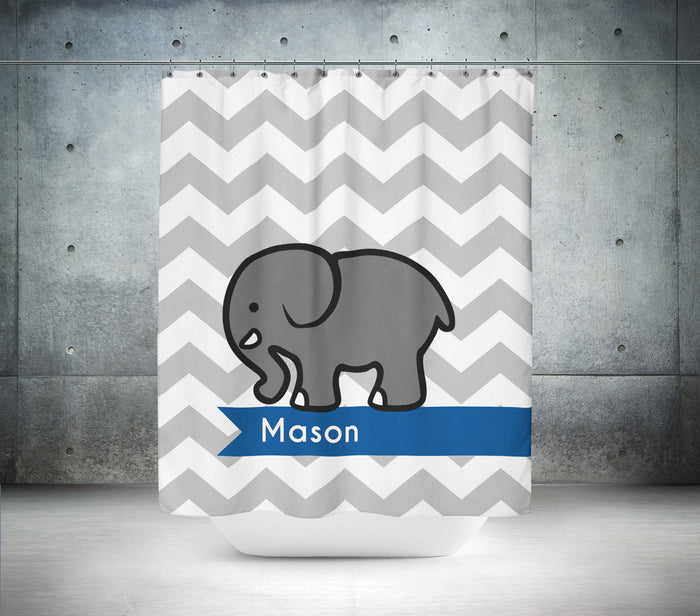 Personalised Elephant Shower Curtain