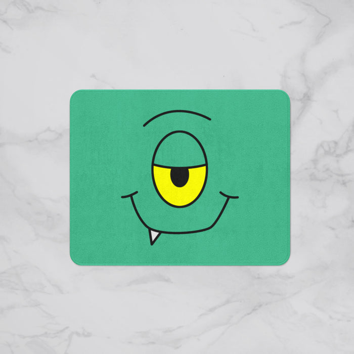 Smiling Monster Kids Designer Bath Mat, Custom Sizes and Designs Are Available, Why Not Design Your Own