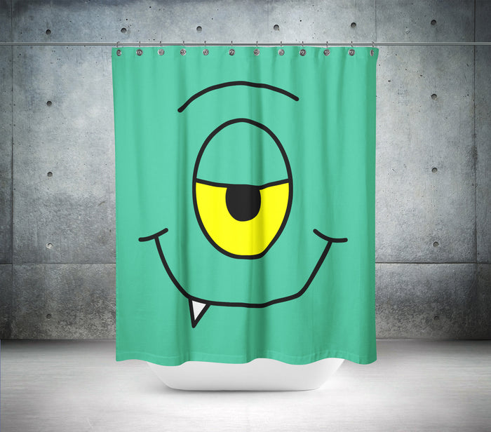 Cheeky Monster Shower Curtain