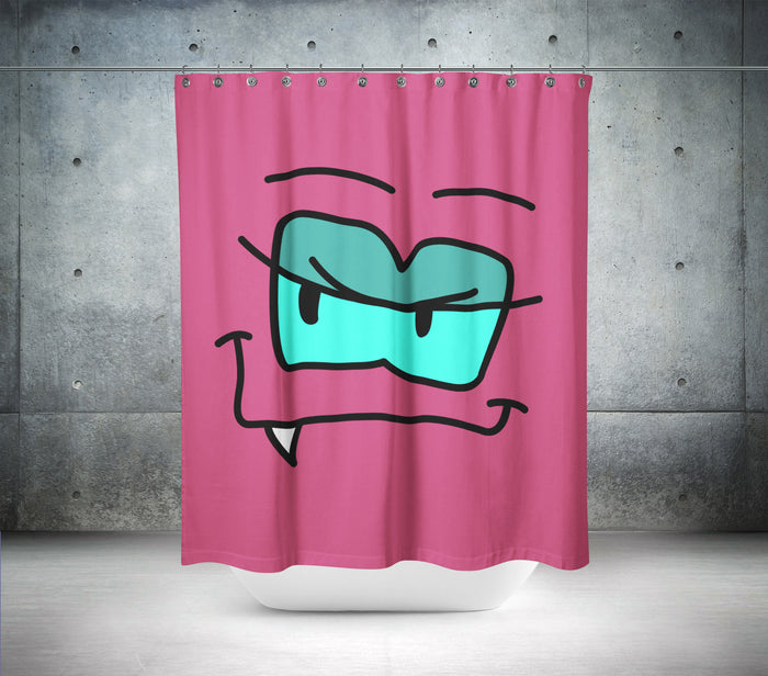 Toothless Monster Shower Curtain