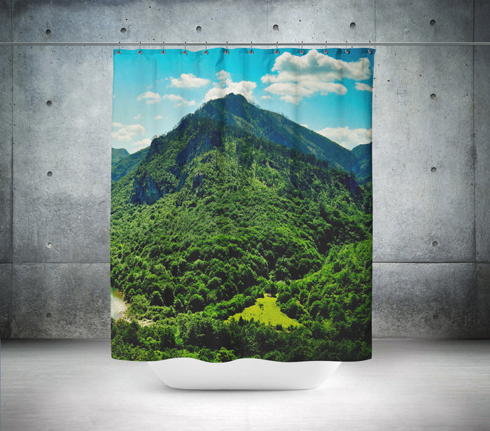 Mountain Scene Shower Curtain
