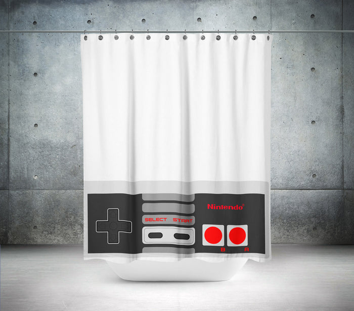 Retro Nintendo Controller Shower Curtain