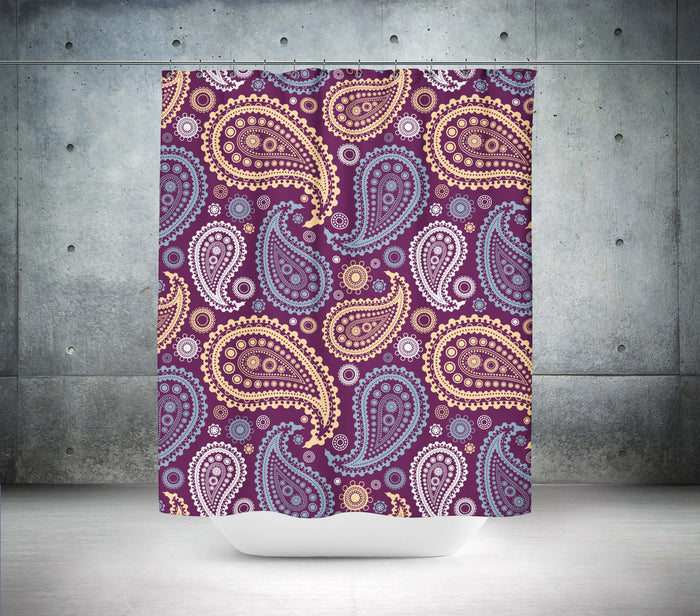 Paisley Print Shower Curtain
