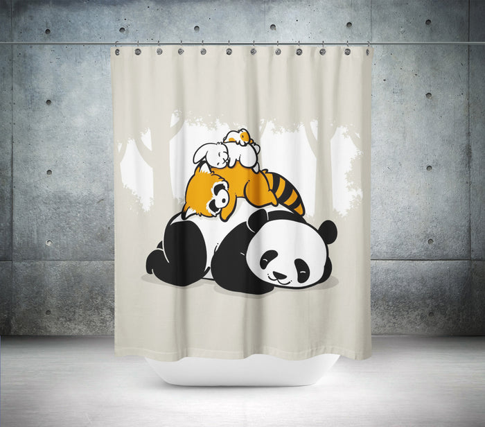 The Sleeping Panda Shower Curtain