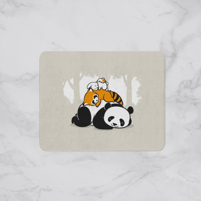 Sleeping Panda Kids Designer Bath Mat, Custom Sizes and Designs Are Available, Why Not Design Your Own