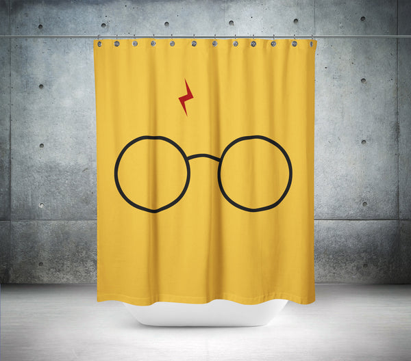 Harry Potter Glasses Shower Curtain