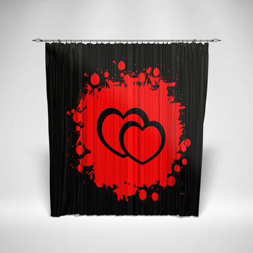 Heart Retro Curtain
