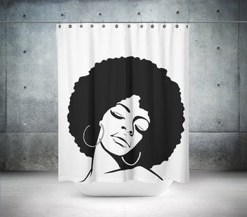 Funky Disco Diva Shower Curtain