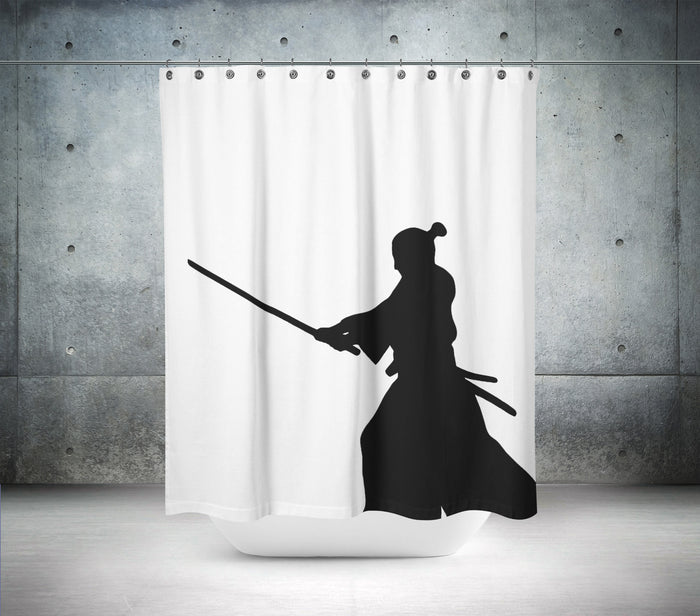 Ancient Samurai Shower Curtain