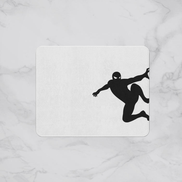 Climbing Spiderman Silhouette Kids Designer Bath Mat, Custom Sizes and Designs Are Available, Why Not Design Your Own