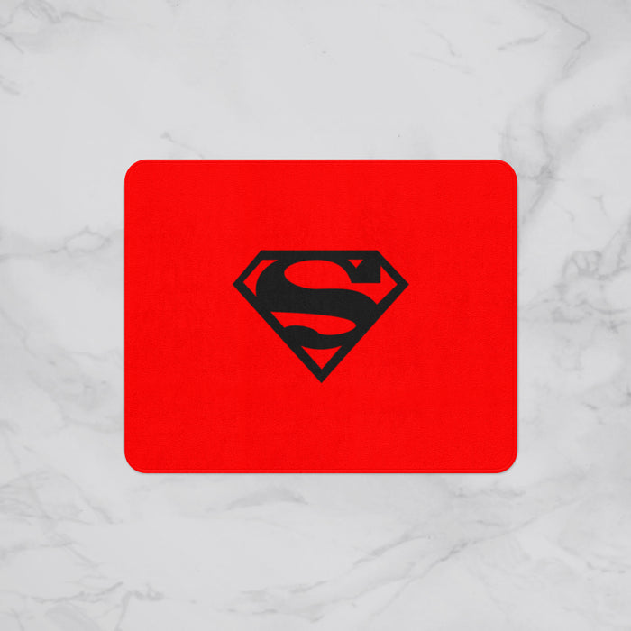 Red Superman Logo Kids Designer Bath Mat, Custom Sizes and Designs Are Available, Why Not Design Your Own