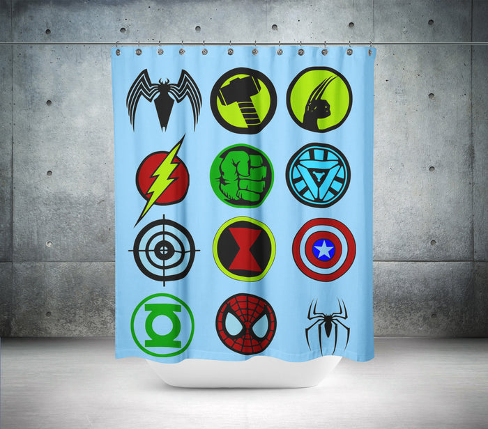 Ultimate Superheros Shower Curtain