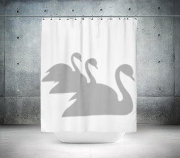 Grey Swans Shower Curtain