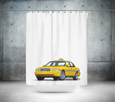 Big Yellow NY Taxi Shower Curtain
