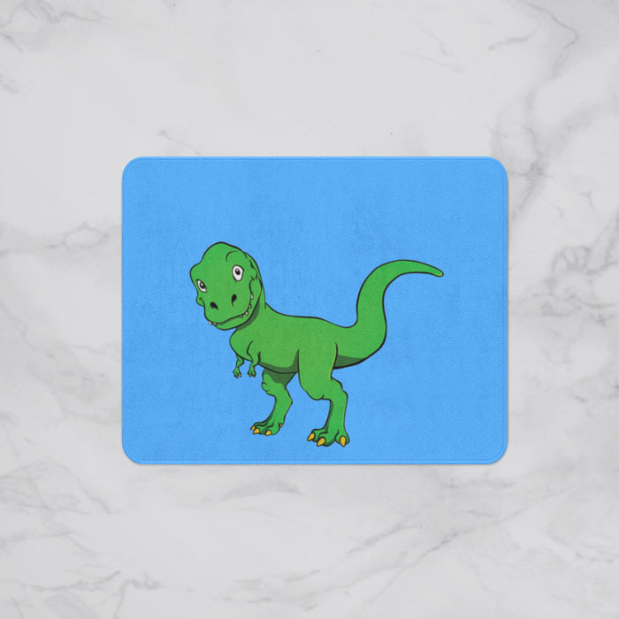 Funny T-Rex Kids Designer Bath Mat, Custom Sizes and Designs Are Available, Why Not Design Your Own