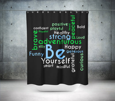 """BE"" Shower Curtain"