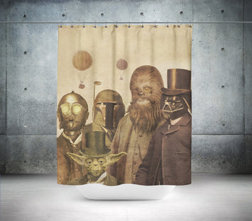 Victorian Retro Star Wars Shower Curtain