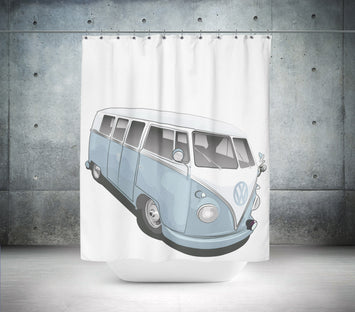 Retro VW Campervan Shower Curtain