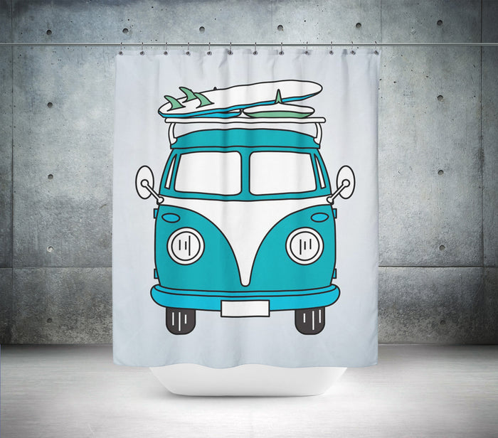 VW Campervan Shower Curtain