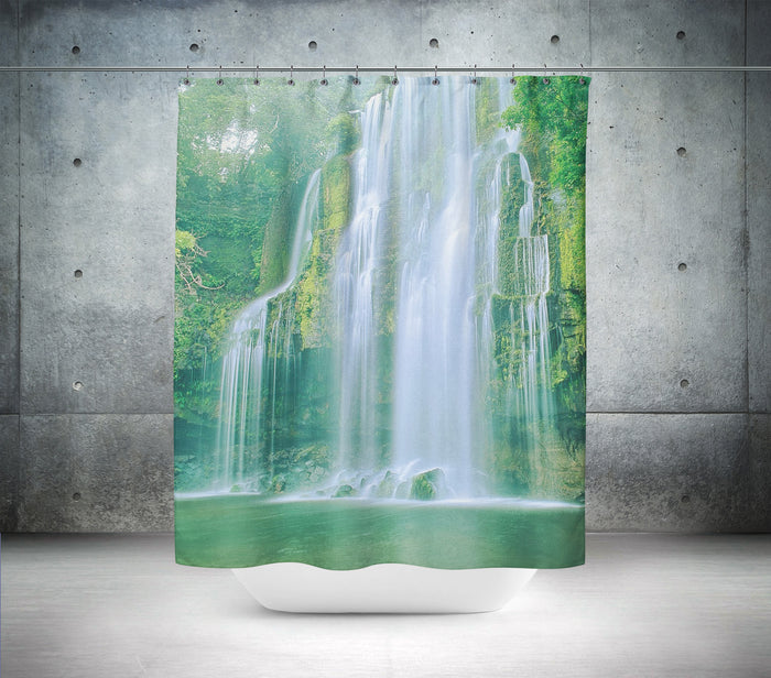 High Waterfall Scene Shower Curtain