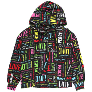 Love Moschino Women's All Over Logo Hoodie - Rule of Next Apparel