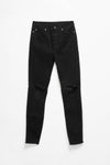 Ksubi Women's Hi N Wasted Trashed Black Jeans - Rule of Next Apparel