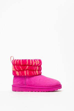 Ugg Women's Zebra Fluff Mini Quilted - Rule of Next Footwear