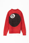 Stüssy 8-Ball Heavy Brushed Mohair Sweater - Rule of Next Apparel