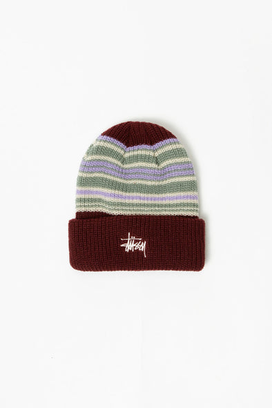 Stüssy Striped Cuff Beanie - Rule of Next Accessories